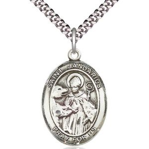 Sterling Silver St Januarius Pendant